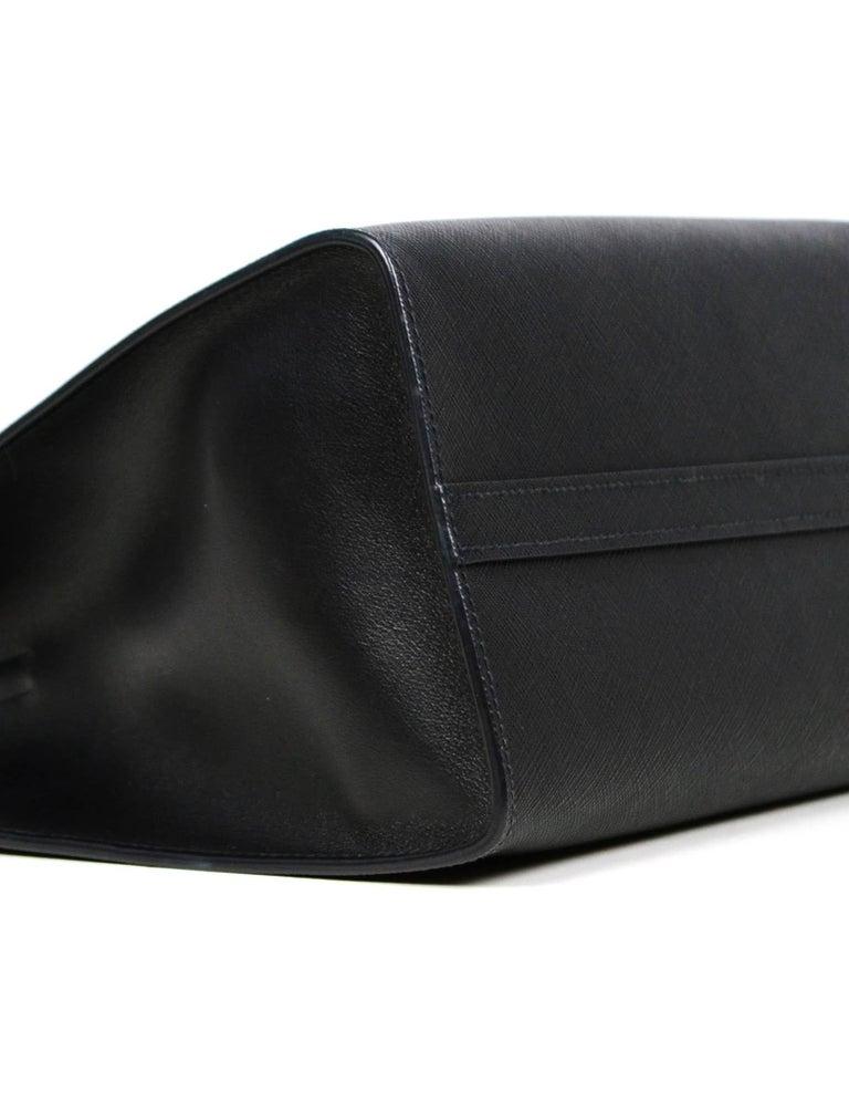 Prada Nero Black Saffiano Leather Lux Convertible Tote Bag w/ Strap 1BA118 For Sale 2