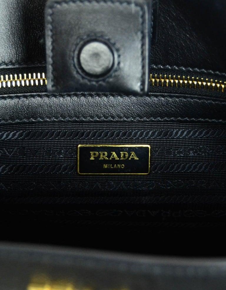 Prada Nero Black Saffiano Leather Lux Convertible Tote Bag w/ Strap 1BA118 For Sale 3