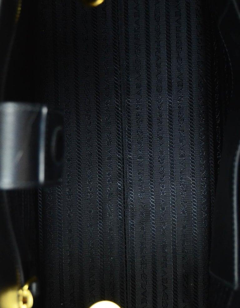 Prada Nero Black Saffiano Leather Lux Convertible Tote Bag w/ Strap 1BA118 For Sale 4