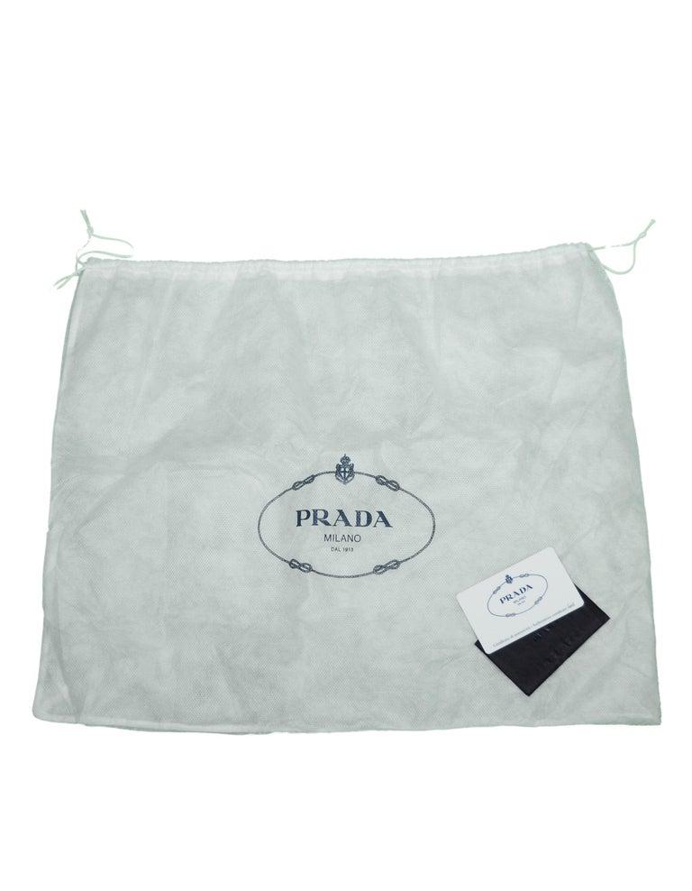 Prada Nero Black Saffiano Leather Lux Convertible Tote Bag w/ Strap 1BA118 For Sale 5