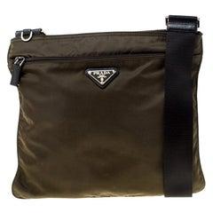 Prada Olive Green Nylon Crossbody Bag