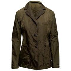 Prada Olive Green Nylon Jacket