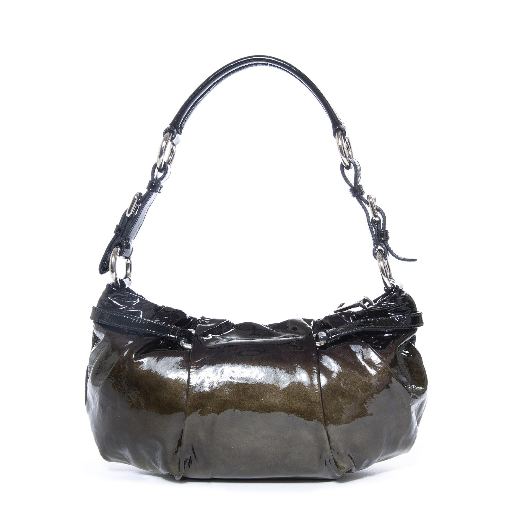 acef1b869657 Prada Ombre Patent Baguette Shoulderbag For Sale at 1stdibs