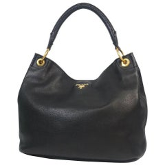PRADA one shoulder Womens shoulder bag BR4712 black x gold hardware