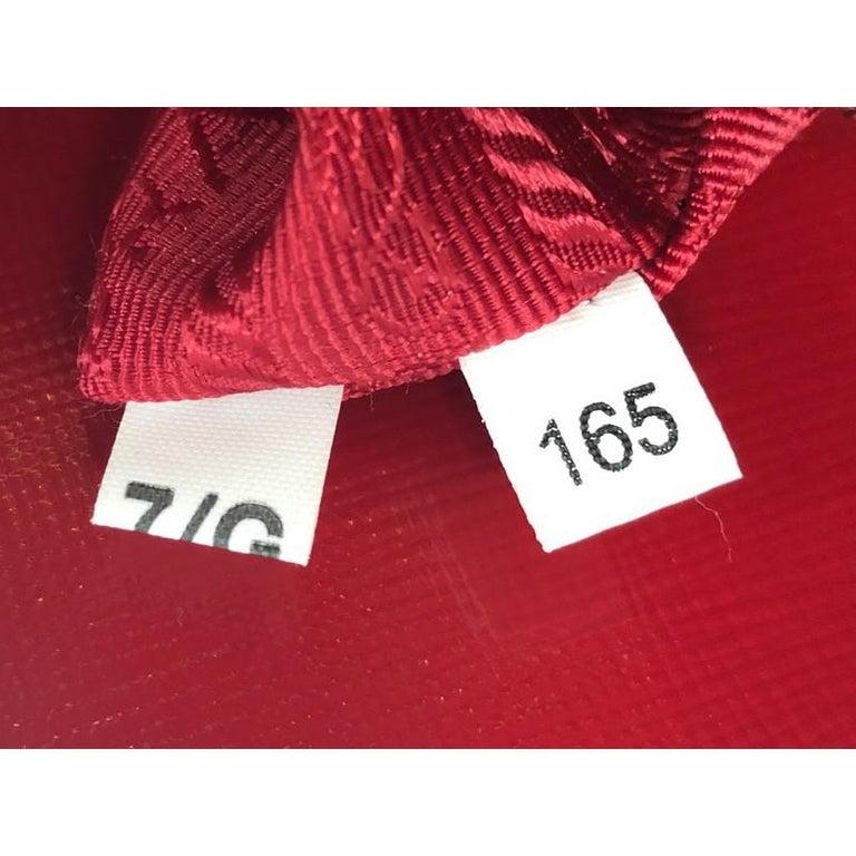 Prada Open Promenade Bag Vernice Saffiano Leather Medium For Sale 2