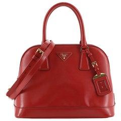 Prada Open Promenade Bag Vernice Saffiano Leather Medium