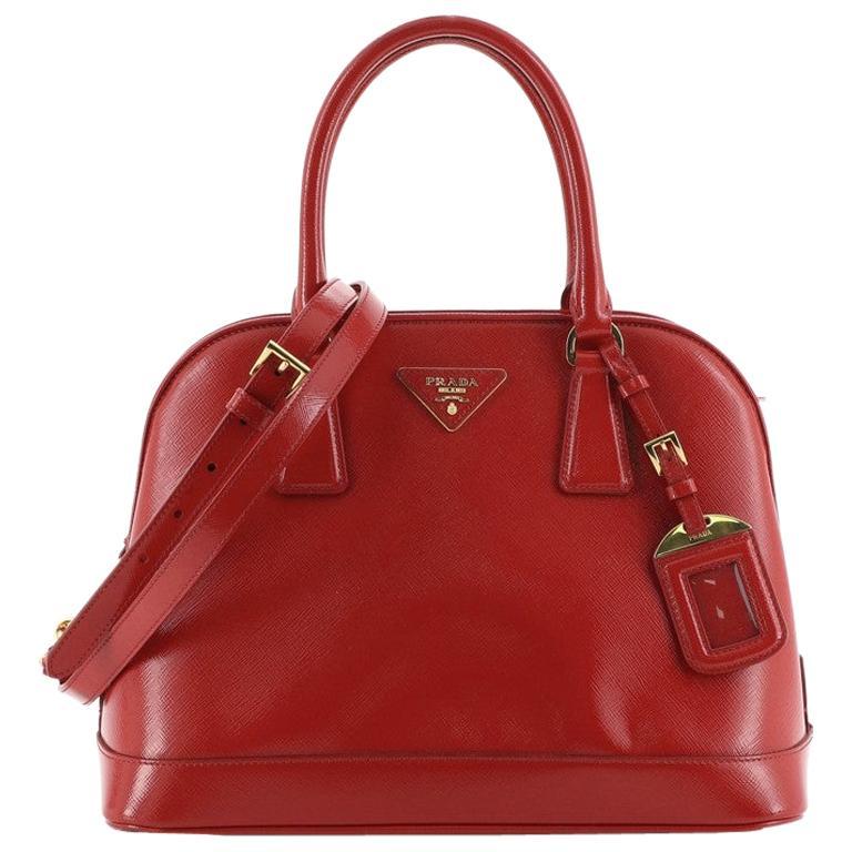 Prada Open Promenade Bag Vernice Saffiano Leather Medium For Sale