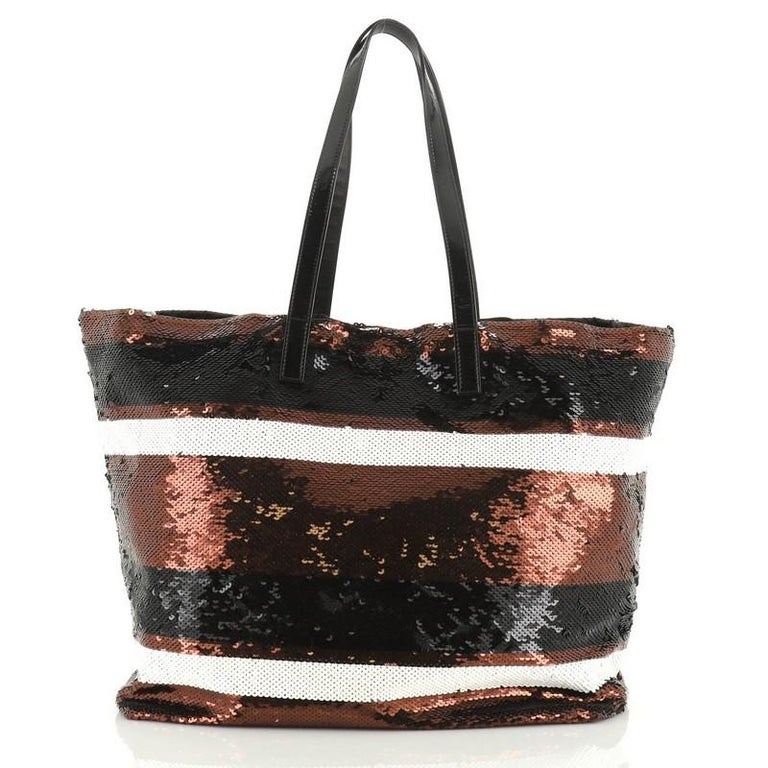 Women's or Men's Prada Open Tote Sequins Large For Sale