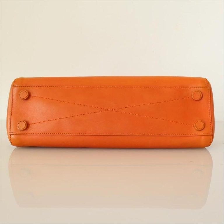 Women's Prada Orange Leather Bag For Sale