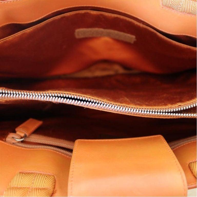 Prada Orange Leather Bag For Sale 2