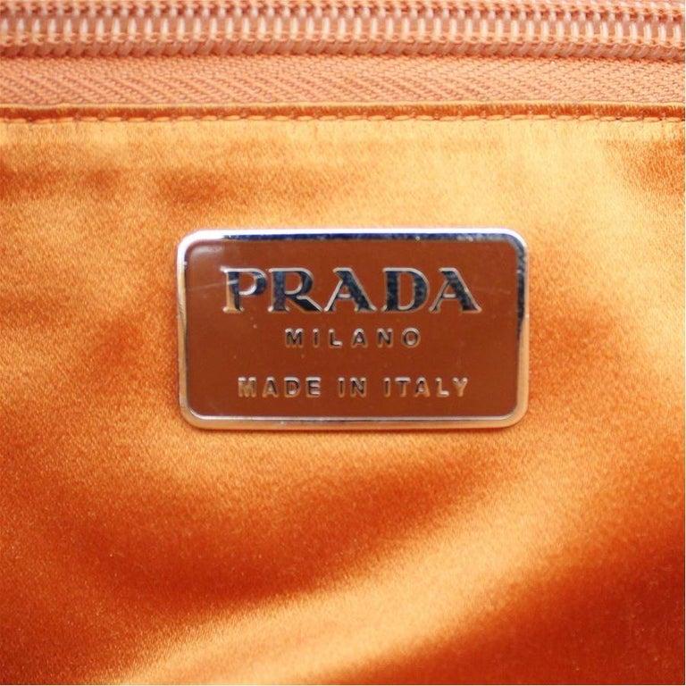Prada Orange Leather Bag For Sale 3
