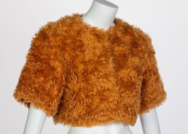 Women's Prada Orange Mohair Cropped Jacket, 2007 For Sale