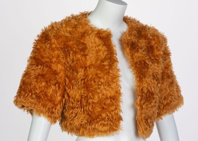 Prada Orange Mohair Cropped Jacket, 2007 For Sale 1