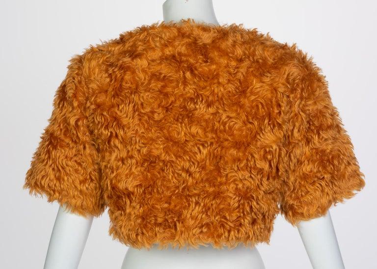 Prada Orange Mohair Cropped Jacket, 2007 For Sale 2