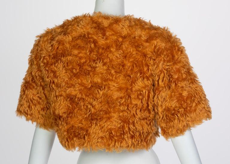 Prada Orange Mohair Cropped Jacket, 2007 For Sale 3
