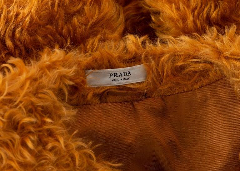 Prada Orange Mohair Cropped Jacket, 2007 For Sale 4