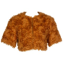 Prada Orange Mohair Cropped Jacket, 2007