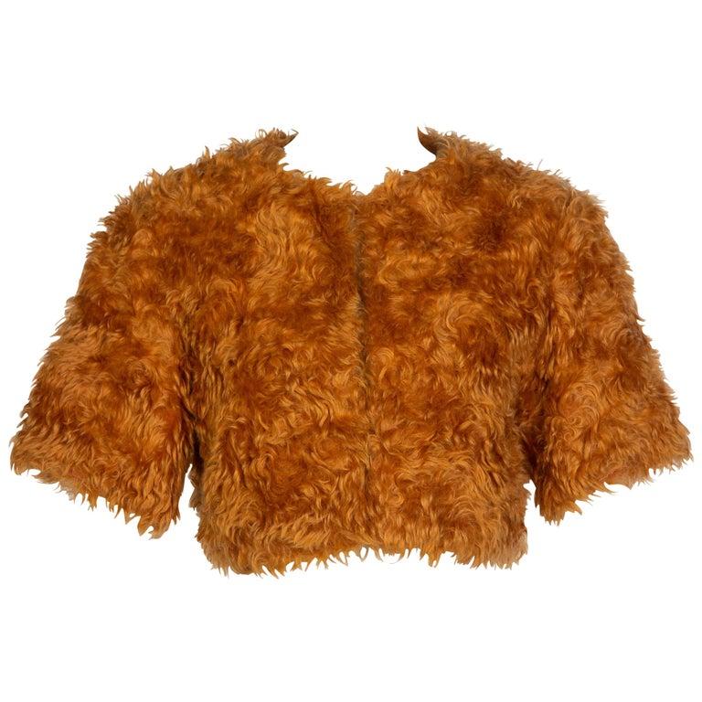 Prada Orange Mohair Cropped Jacket, 2007 For Sale