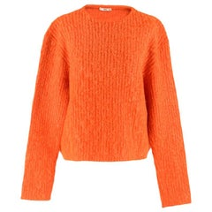 Prada Orange Mohair Knit Jumper XXS