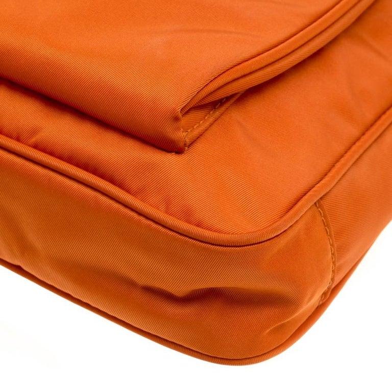 7c1f2a87d09a Prada Orange Nylon Crossbody Bag For Sale 7