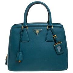 Prada Ottanio Saffiano Lux Leather Parabole Tote