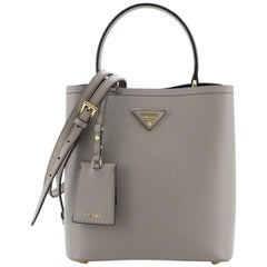 Prada Panier Bucket Bag Saffiano Leather Medium