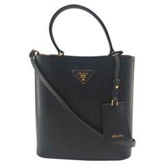 PRADA Panier Shoulder bag in Black Leather