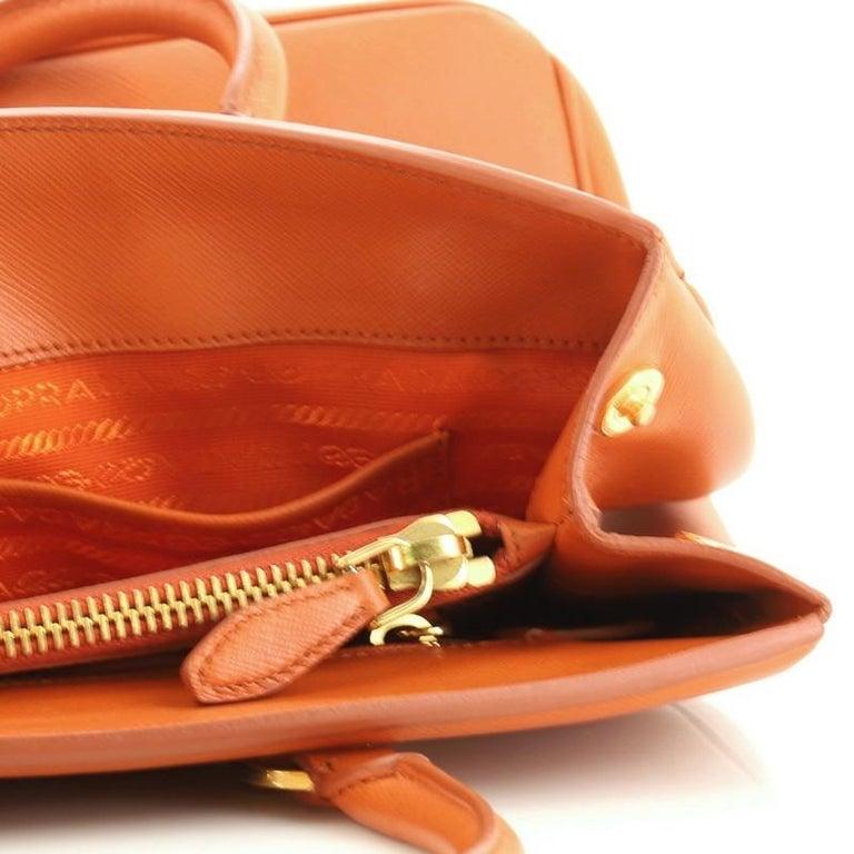 Prada Parabole Handbag Saffiano Leather Medium For Sale 6