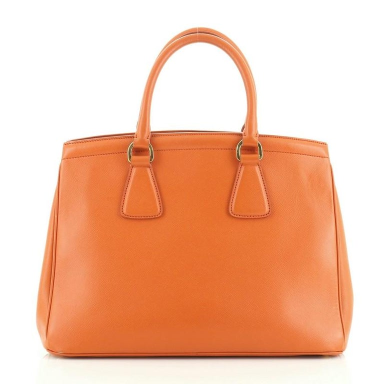 Prada Parabole Handbag Saffiano Leather Medium In Good Condition For Sale In New York, NY