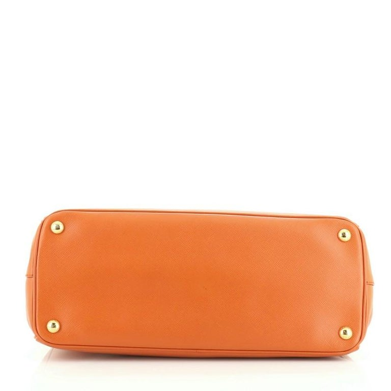 Women's or Men's Prada Parabole Handbag Saffiano Leather Medium For Sale