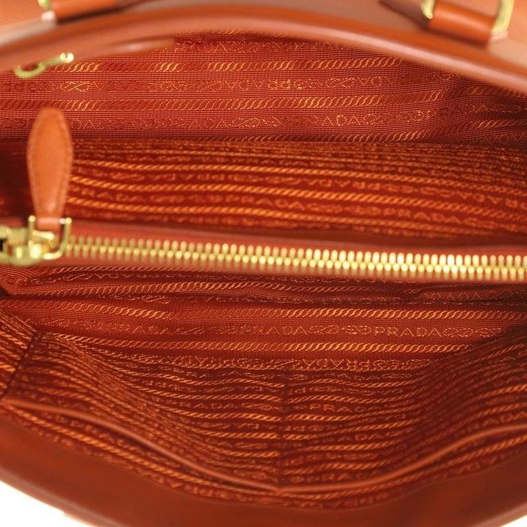 Prada Parabole Handbag Saffiano Leather Medium For Sale 1