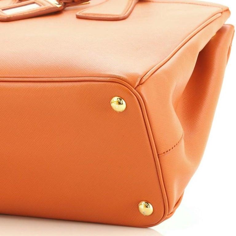 Prada Parabole Handbag Saffiano Leather Medium For Sale 2