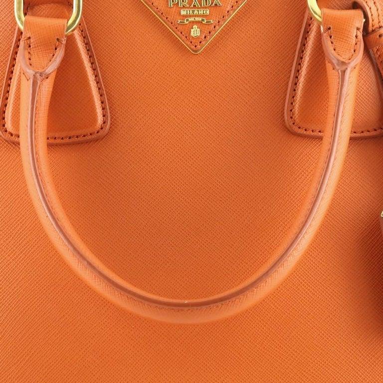 Prada Parabole Handbag Saffiano Leather Medium For Sale 3
