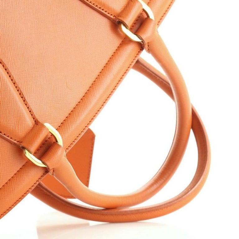 Prada Parabole Handbag Saffiano Leather Medium For Sale 4
