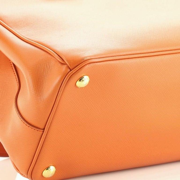 Prada Parabole Handbag Saffiano Leather Medium For Sale 5