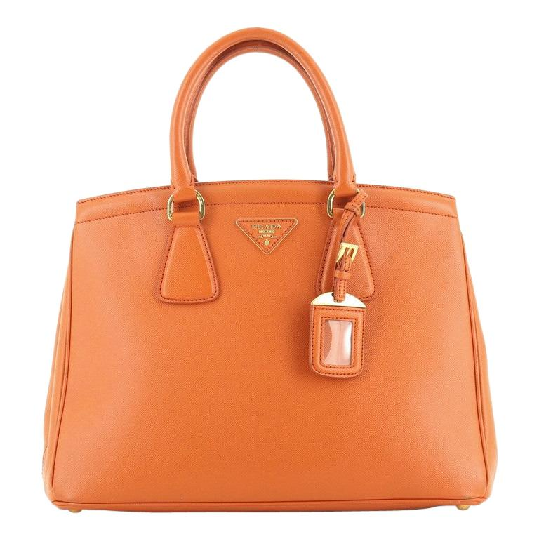 Prada Parabole Handbag Saffiano Leather Medium For Sale