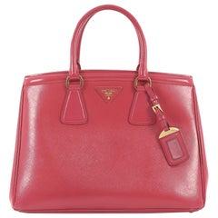 Prada Parabole Handbag Vernice Saffiano Leather Medium