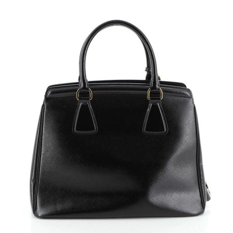Women's or Men's Prada Parabole Tote Vernice Saffiano Leather Medium For Sale