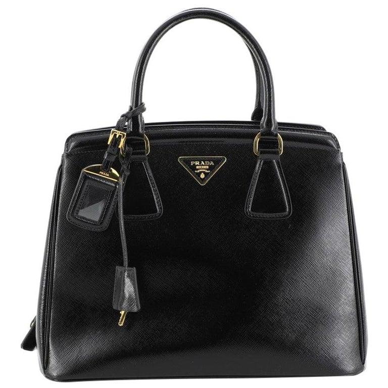 Prada Parabole Tote Vernice Saffiano Leather Medium For Sale