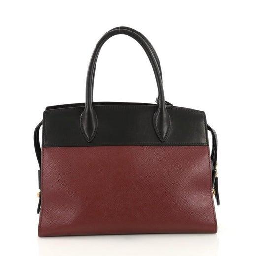8e09e3559738 Prada Paradigme Handbag Saffiano Leather with City Calfskin Medium For Sale  at 1stdibs