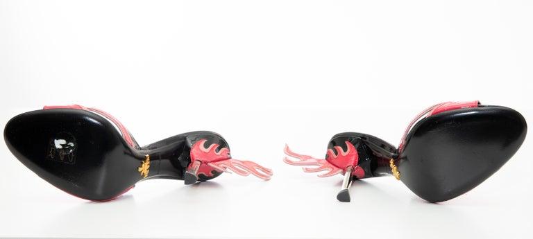 Prada Patent Leather Flame Slide Sandals, Spring 2012 For Sale 9