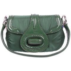 Prada Pattina Sottospalla Handbag - green