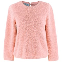 Prada Pink Alpaca-blend boucle sweater  42  S