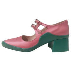 Prada Pink and Green Satin Shoe