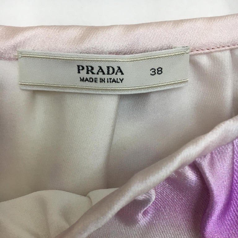 Women's Prada Pink Beach Print Skirt ss 2010  For Sale