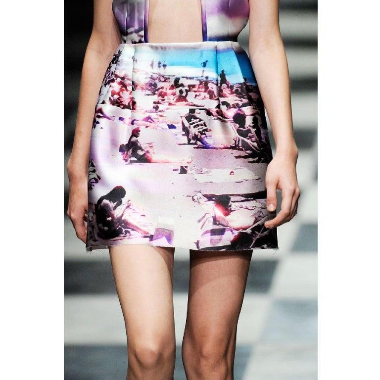 Prada Pink Beach Print Skirt ss 2010  For Sale 1