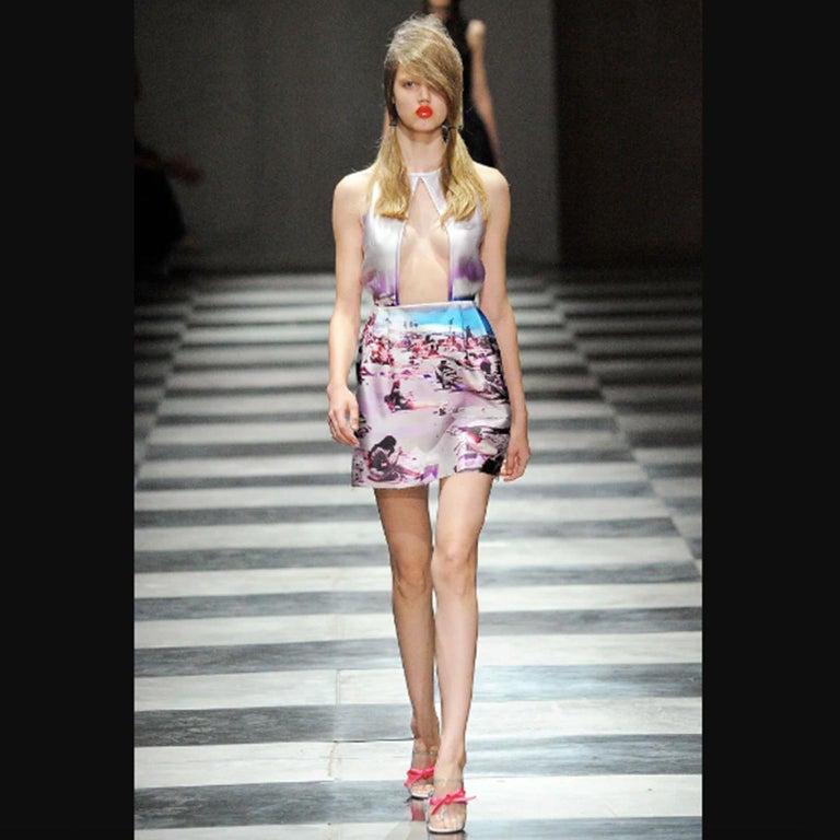 Prada Pink Beach Print Skirt ss 2010  For Sale 2