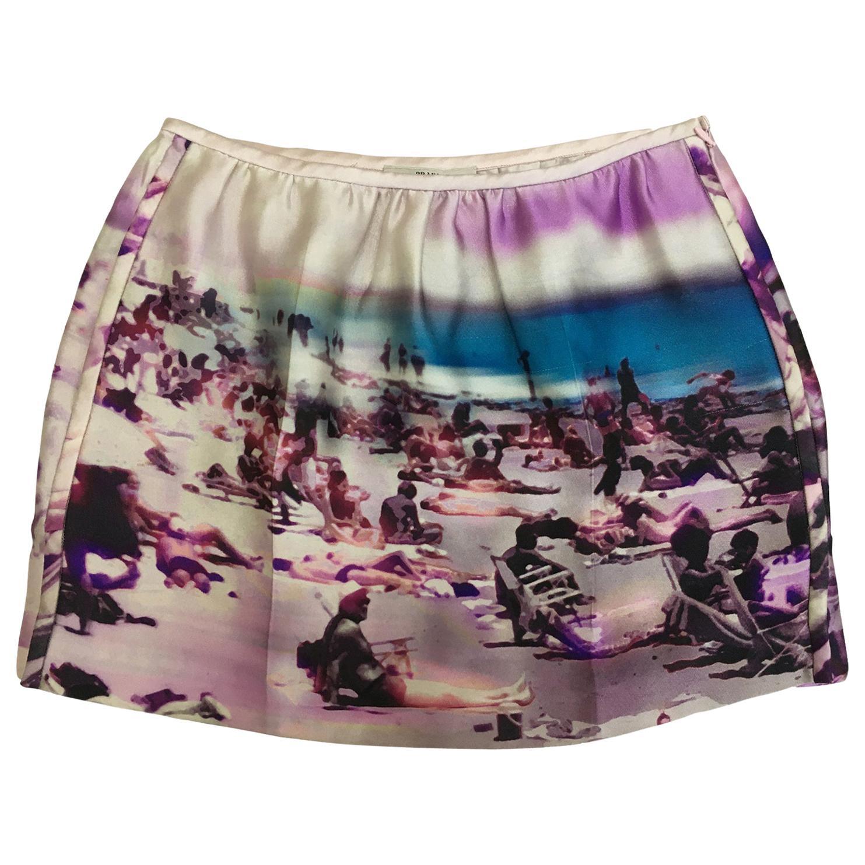Prada Pink Beach Print Skirt ss 2010