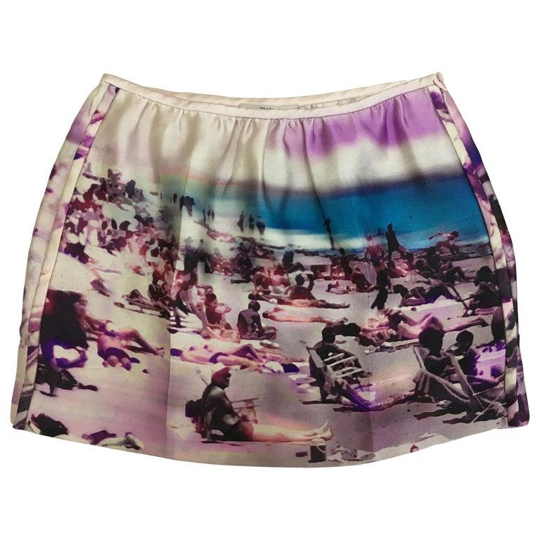 Prada Pink Beach Print Skirt ss 2010  For Sale