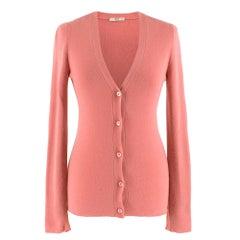 Prada Pink Cashmere blend Cardigan SIZE 40 IT